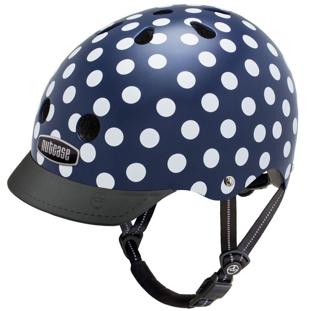 nutcase street navy dots multisport helm f r kinder und. Black Bedroom Furniture Sets. Home Design Ideas