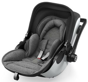 Kiddy Evoluna i-Size 2 2018 - Fashion Collection Grey Melange inkl. Isofix Station – Bild 3