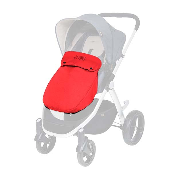Mountain Buggy Cosmopolitan Beindecke Cosy Toe chilli rot